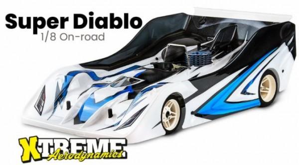 Super Diablo Karosserie 0.75mm - cut out Mugen