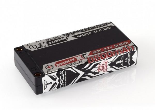 INFINITE X 8500mAh 3.7V 130C LiPo 1/12 Pack