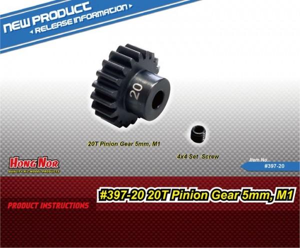 20T Motor Gear/5mm,M1