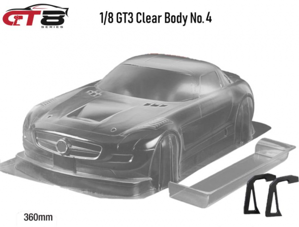 """1/8 GT8-Series """"Clear Body No.4"""" GT3 360mm"""