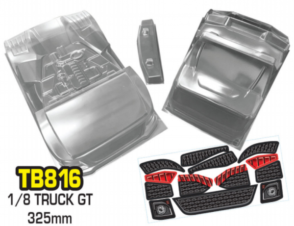 "1/8 GT8-Series ""Clear Body No.7"" TRUCK 325mm"