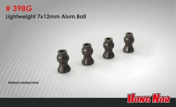 Lightweight 7x12 mm Alum, Ball (4 pcs)