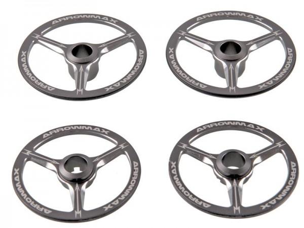 Aluminium Einstellradscheiben (4) für 1:8 On-Road Modelle