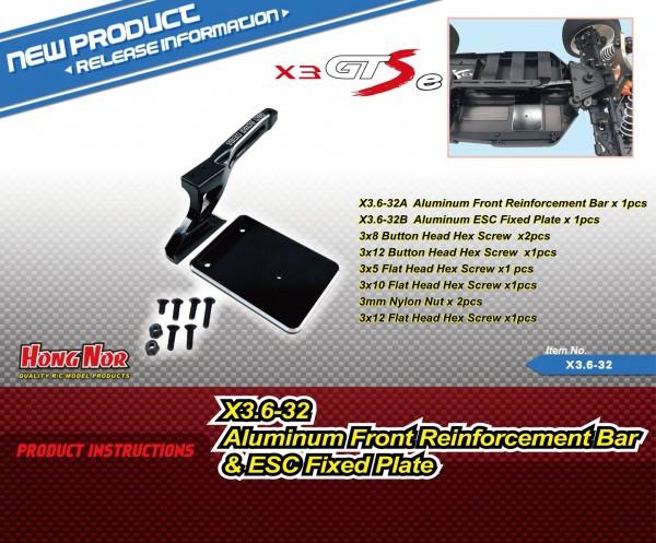 Alum. Front Reinforcement Bar& ESC Fixed Plate
